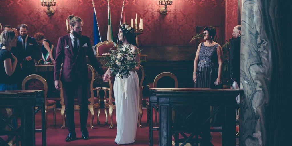 Sala Rossa Rome Campidoglio wedding ceremony
