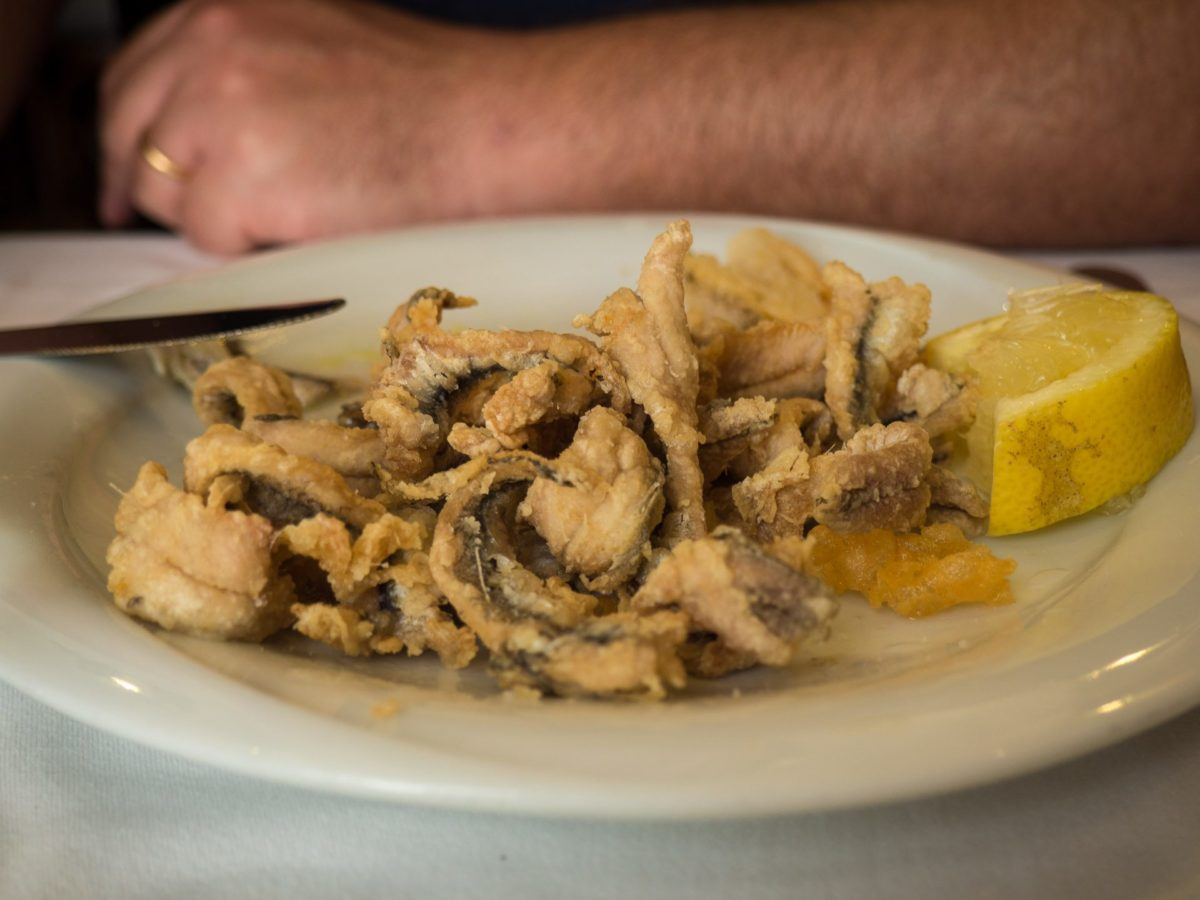 Alici fritti at Nonna Betta in Rome