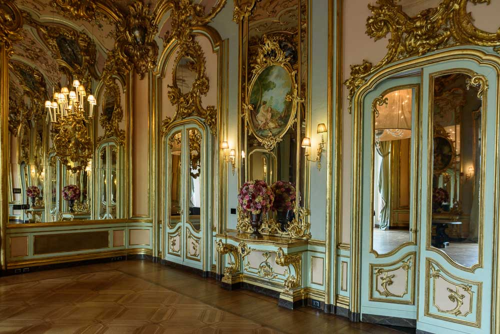 Inside Villa Cora, ceiling view Florence Italy