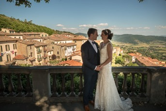 A stunning wedding in Cortona
