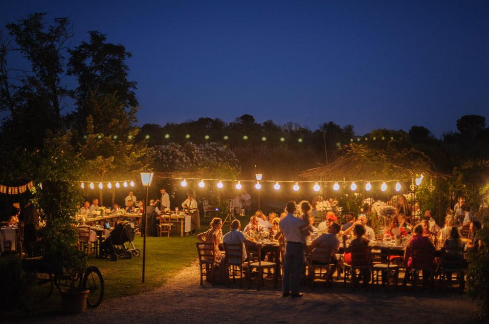Borgo di Tragliata in Rome - A wedding party under the stars