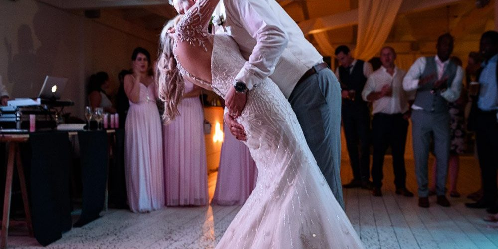 The first dance, a shuffle or a scuffle.